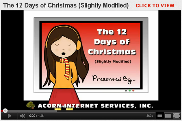 Video: 12 Days of Christmas (Slightly Modified!)