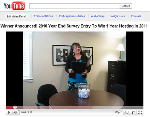 Click Here to watch the YouTube Winner Announcement Video