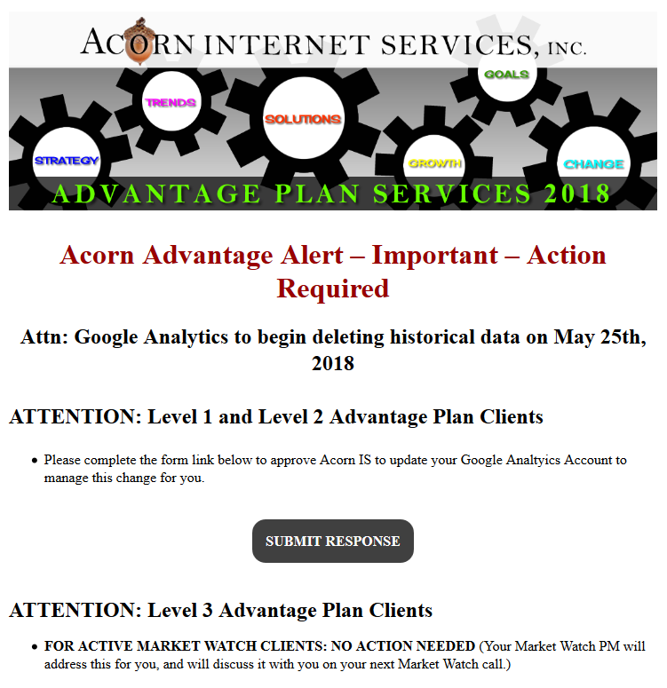 Advantage Plan Email Snapshot