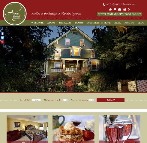 Avenue Hotel Bed Breakfast - Deluxe design screenshot