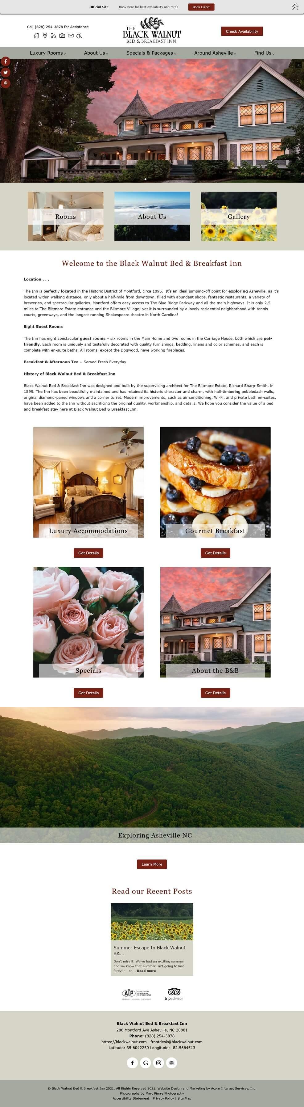 Black Walnut Bed & Breakfast home page