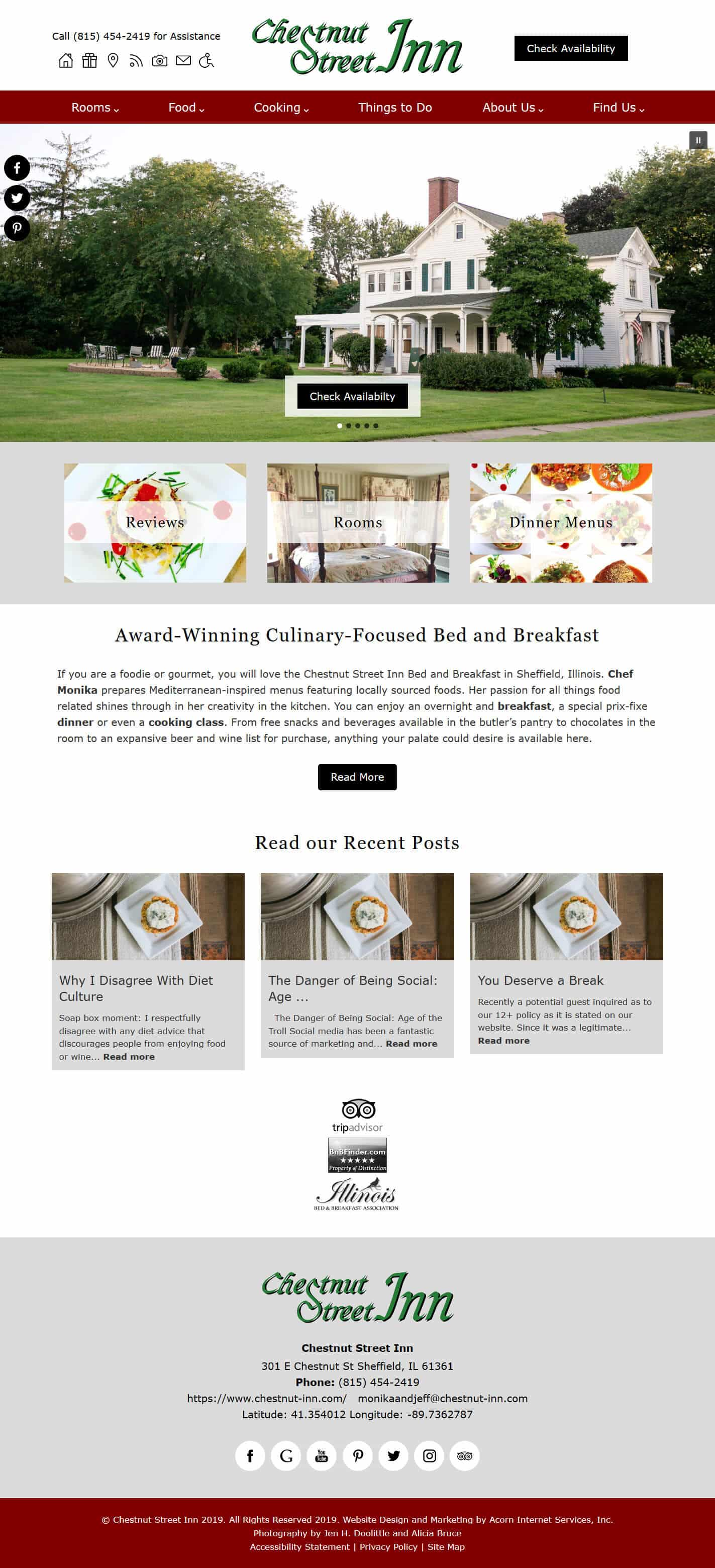 Chestnut Street Inn's home page