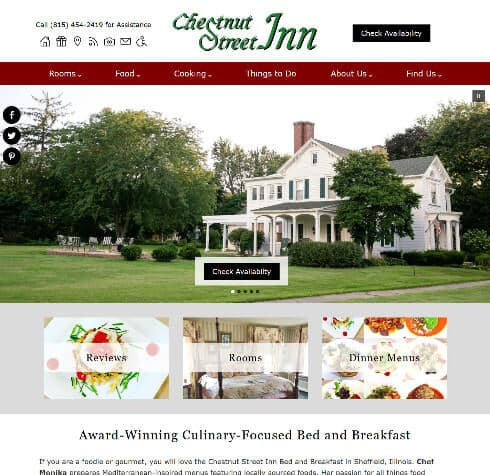 Chestnut Street Inn - Standard Website by Acorn Internet Services - Screenshot