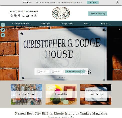 Christopher Dodge House - Standard website
