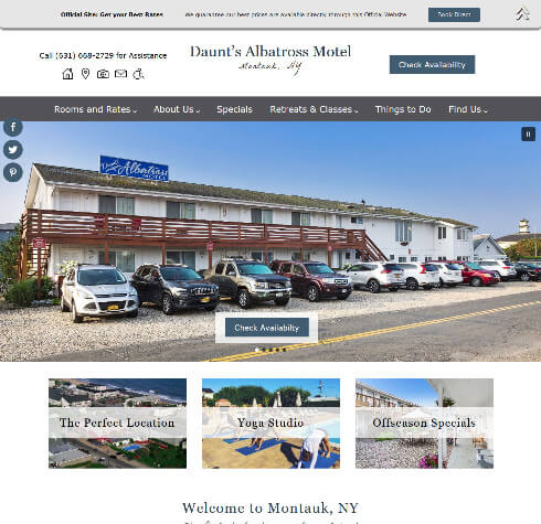 Daunt's Albatross Motel - Standard design website