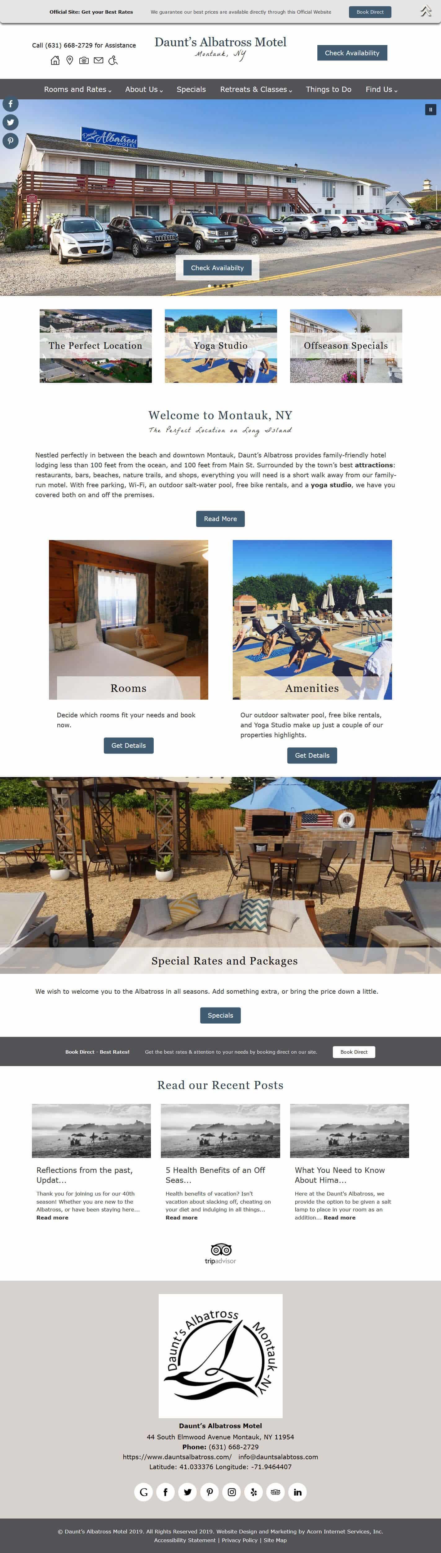 Daunt's Albatross Motel  website home page
