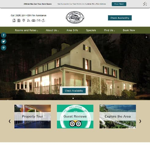 Lovill House Inn - Standard website by Acorn Internet Services - Screenshot