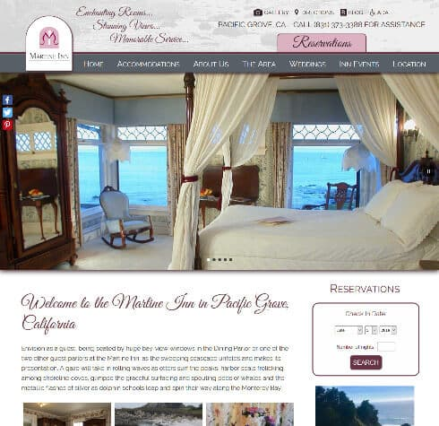 Martine Inn - Deluxe website design