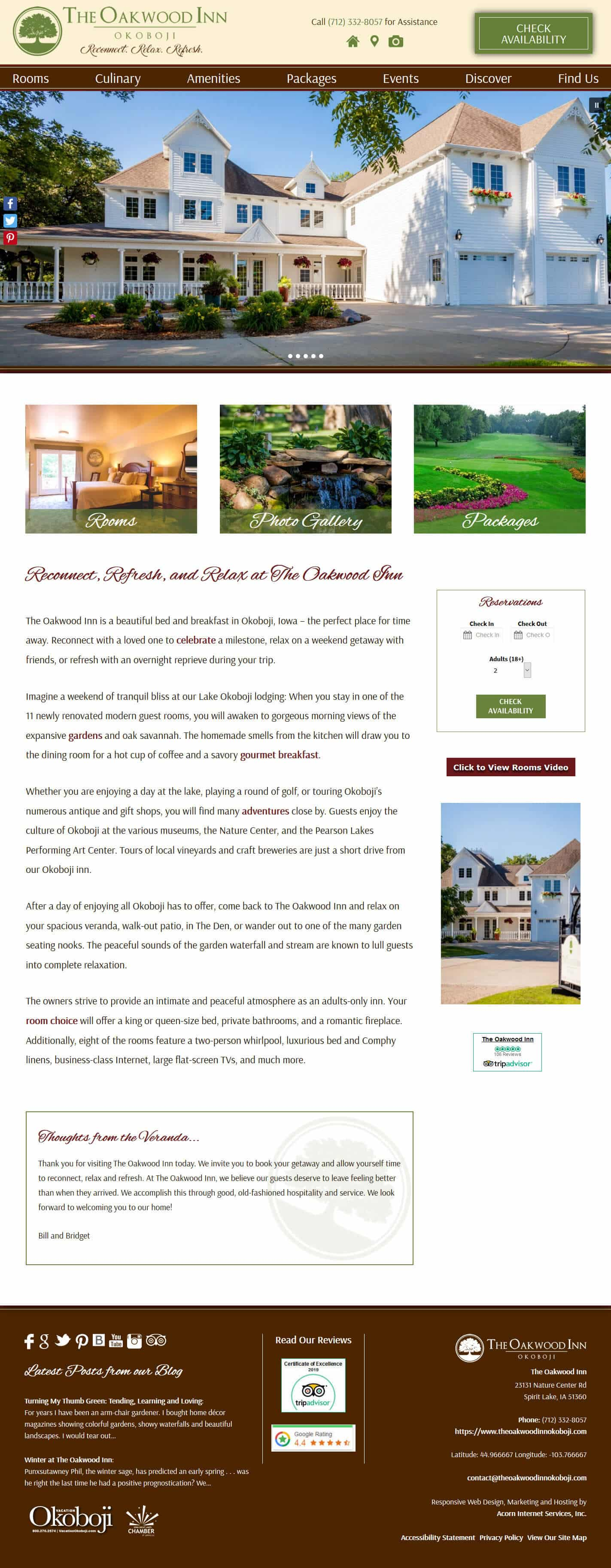 The Oakwood Inn home page