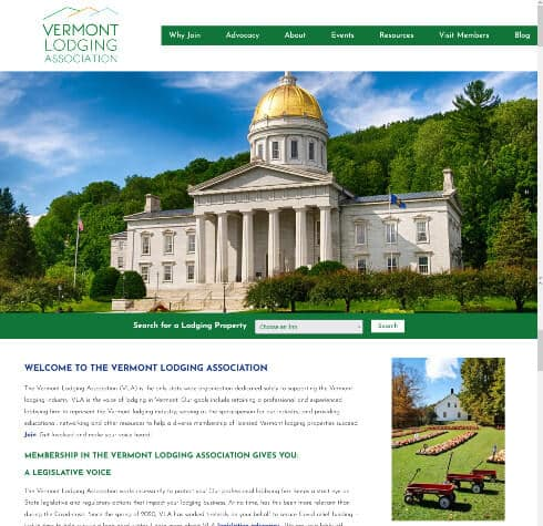 Vermont Inn and Bed & Breakfast Association - Association website home page