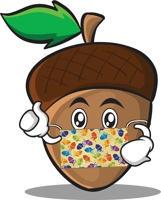 Cartoon Acorn with Mask
