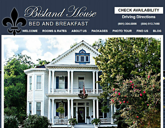 Bisland House Bed and Breakfast, Natchez, MS