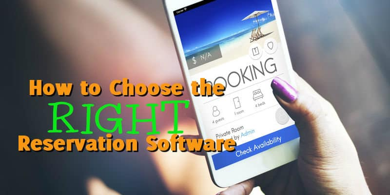 Mobile Phone booking a vacation stay