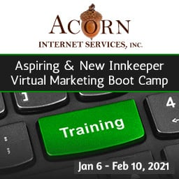 Aspiring Innkeeper Classes with Acorn Logo text