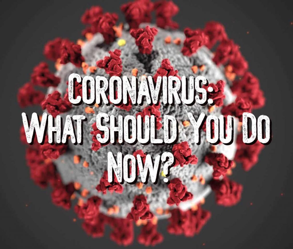 CDC-issued drawing of Coronavirus with text: Coronavirus: What Should You Do Now?