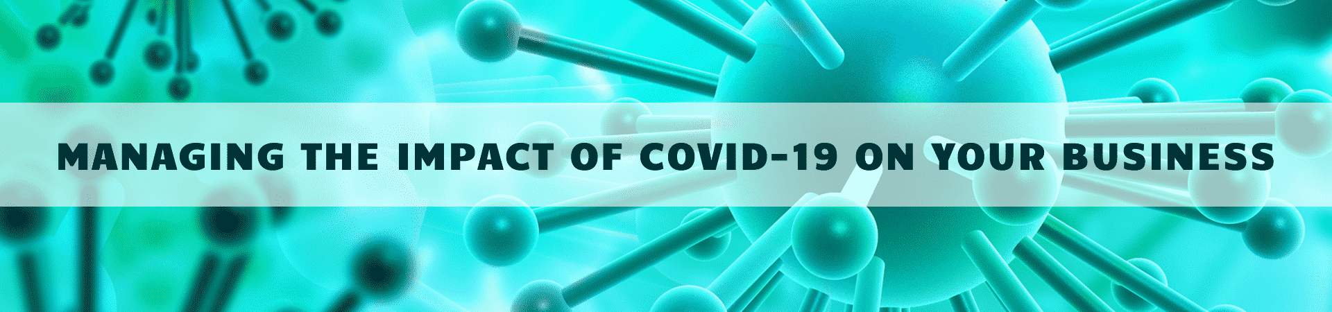 Covid 19 virus image in teals and greens