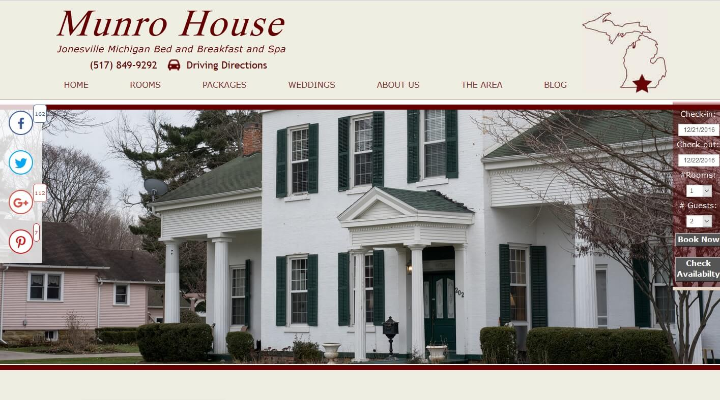 Munro House Bed Breakfast and Spa