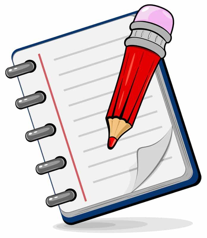 Cartoon Notepad and pen