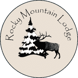 Rocky Mtn Lodge Logo Pine Tree and Elk