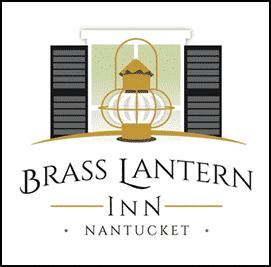 Brass Lantern Inn Logo window and Lantern