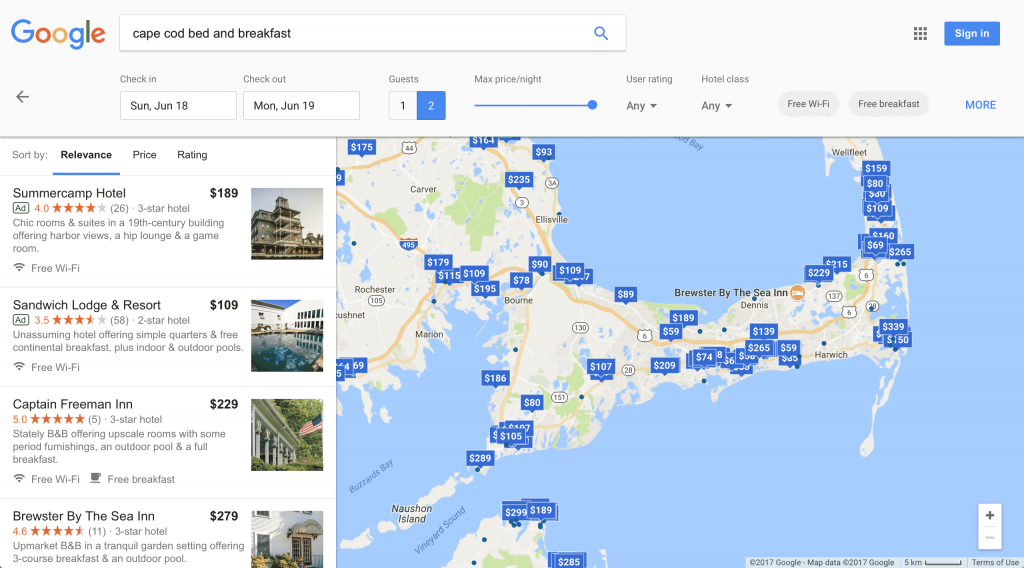 Google New Testing Look and Feel for Google Maps