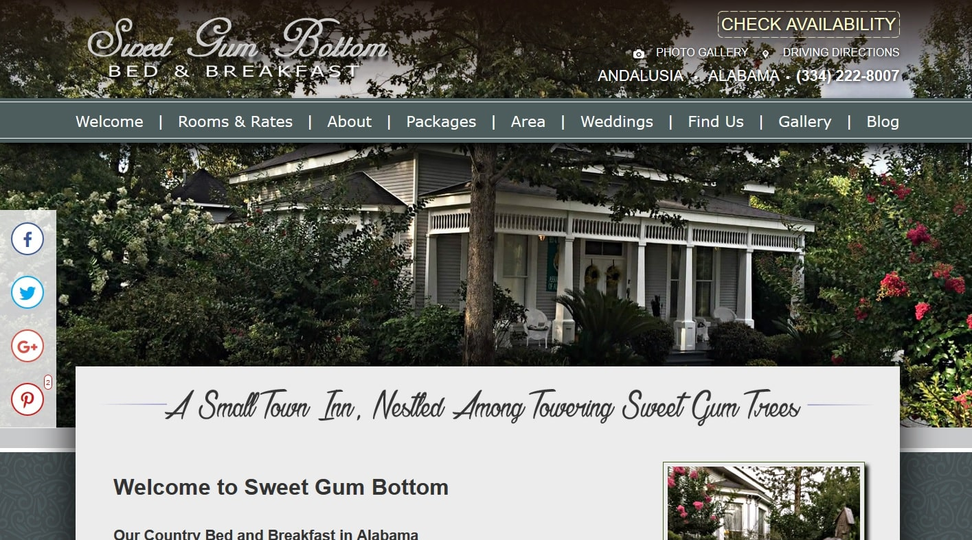 Sweet Gum Bottom Bed And Breakfast